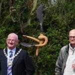 Sculpture complements Rose Garden restoration