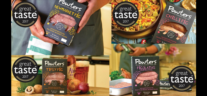 Great Taste, east anglia, sausage, great, taste, awards, powters, newmarket, suffolk