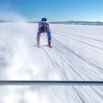 Graham Bell Towed on Skis Across Arctic Circle at Almost 120mph