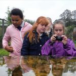 Children learn about the changing seasons at Raveningham Estate