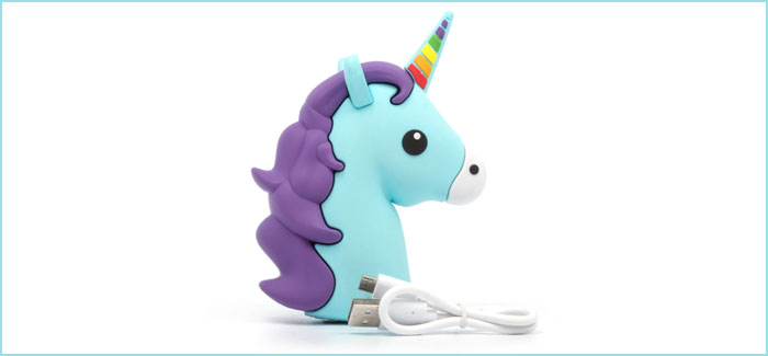 Power up on the go and in style with this glorious Unicorn Power Bank from ThumbsUp!