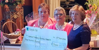 Club kicks of fundraising year with £3,000 for NNUH breast cancer care