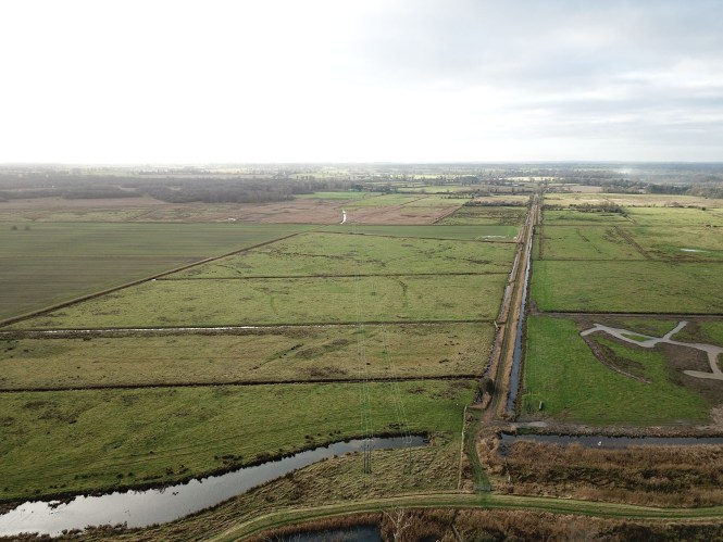 Views showing the area around South Walsham Marshes before the planned removal of the overhead lines.