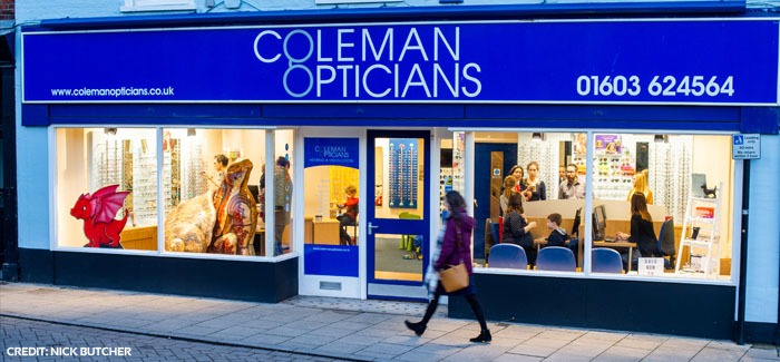 Norwich Optician is a finalist in the National Optician Awards 2019