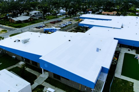 New commercial roofing installation