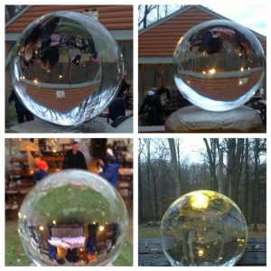 For part of 1 of the workshops, attendees learned to make Spheres by hand.