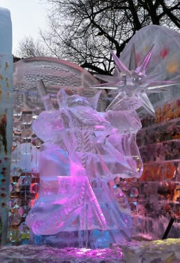 Boston first night ice carving 21