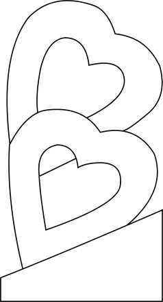 Double hearts Template