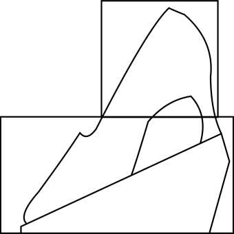 High heel shoe 1.5 blocks Template