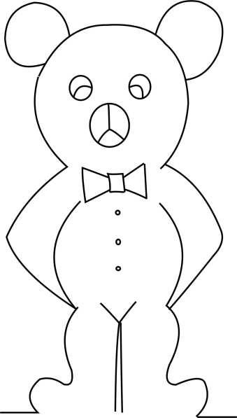 Teady bear Template