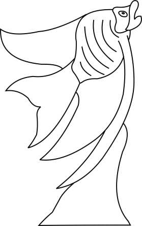 Angel Fish Template