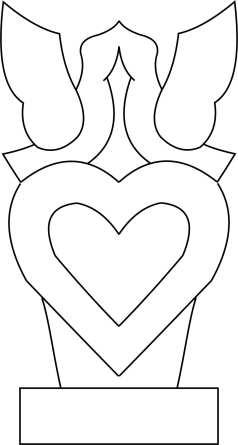 lovebirds on a heart Template
