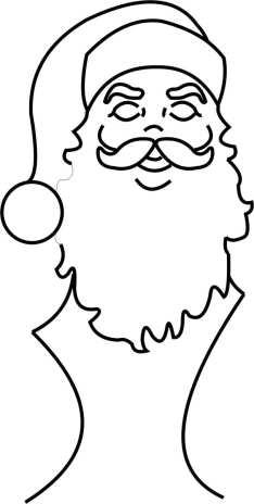 Santa Head Template