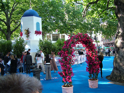 Leicester Square as if situated on the Greek isle of Skopelos!