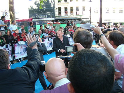 Stellan Skarsgård, Bill in the film, arrives at the event