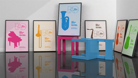 A collection of BAO 2009 Tour posters currently 'at the designers'