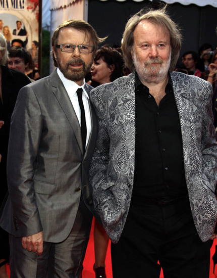 Björn and Benny were appearing to present Mamma Mia! to France