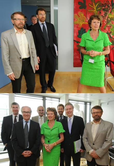 Björn and CEOs from the music industry visit the EU