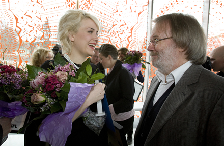 Frida Hyvönen and Benny Andersson