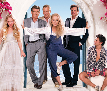 Mamma Mia! on a 100ft screen at the O2 arena