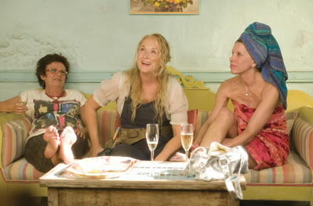 Julie Walters, Meryl Streep and Christine Baranski in Mamma Mia!