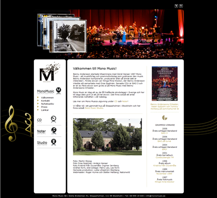 Mono Music website revamp