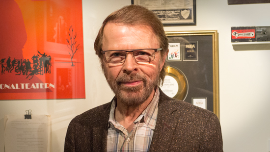 Björn pictured at ABBA The Museum earlier this year