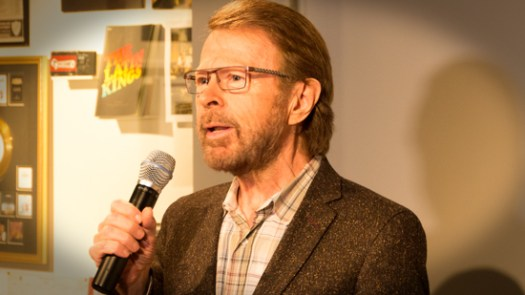 Björn Ulvaeus welcomes the songwriters to the camp