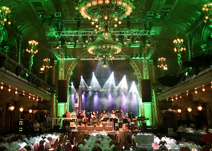 Before the guests arrived: BAO rehearsing at Berns Salonger in Stockholm on 05 June.