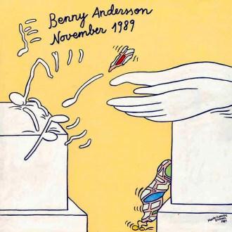 Marie-Louise's artwork on Benny's November 1989 album.