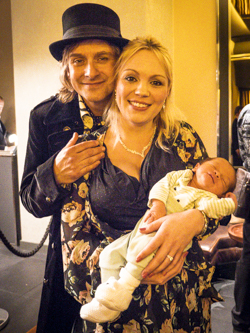 Tim with Jodie and baby Hamish