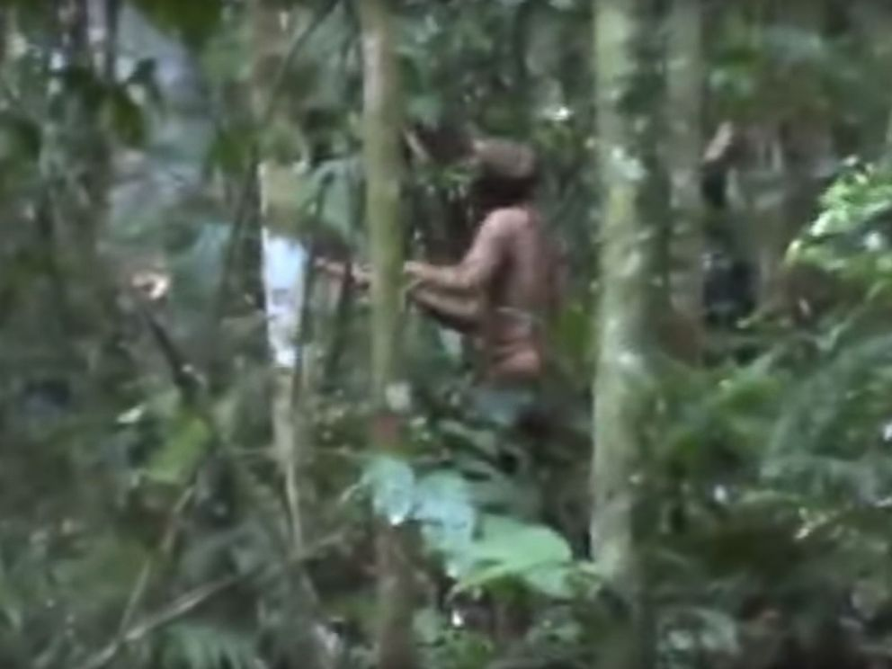 PHOTO: Images show the lone survivor of an Amazonian tribe, according to FUNAI, a Brazilian government agency that protects the interests of natives.