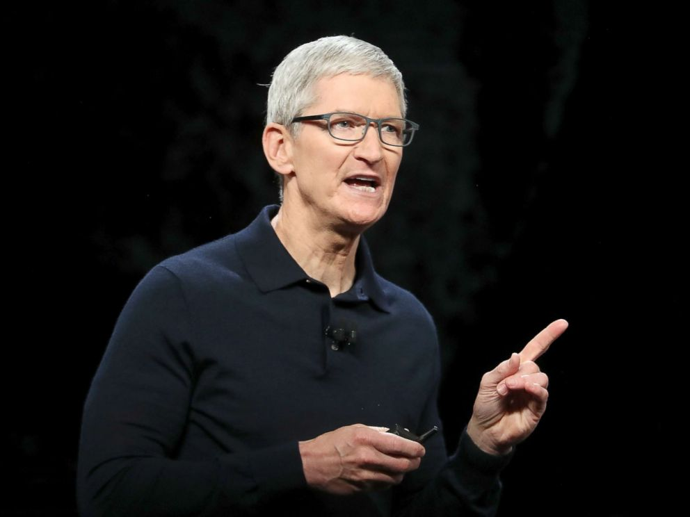 PHOTO: Apple CEO Tim Cook speaks during the 2018 Apple Worldwide Developer Conference (WWDC) on June 4, 2018, in San Jose, Calif.