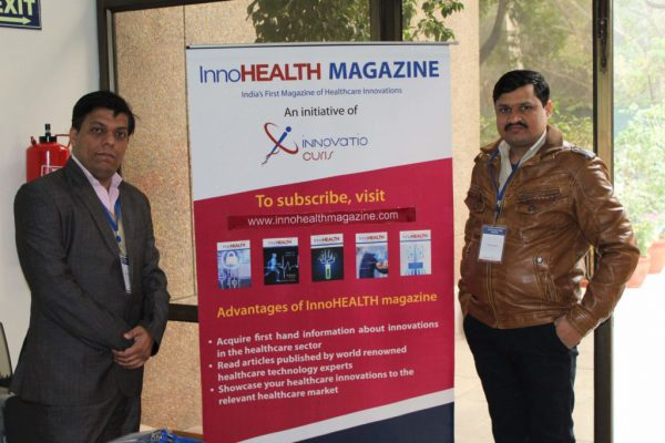 Sanjay-Gaur-and-Mayank-Kumar-posing-with-the-InnoHEALTH-magazine-banner-at-IC-InnovatorCLUB-meeting-1024x683