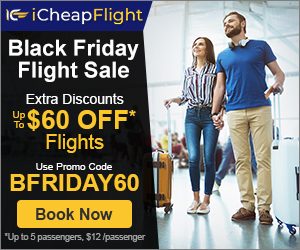 Black Friday Airfare Deals. Save up to $60** with promo code - BFRIDAY60. Valid 10/31 until 11/29