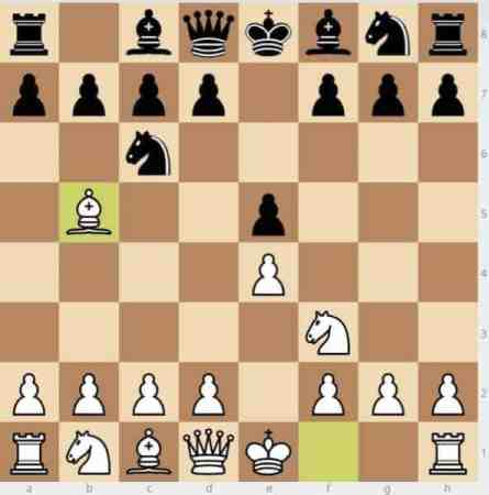 White plays 3.Bb5 entering the Ruy Lopez spanish torture