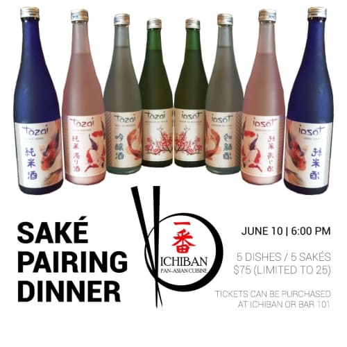 Saké Pairing Dinner | Charleston WV | Ichiban Pan-Asian Cuisine