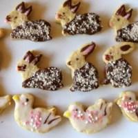 Mandel-Mürbteigkekse für Ostern - Hasen und Enten