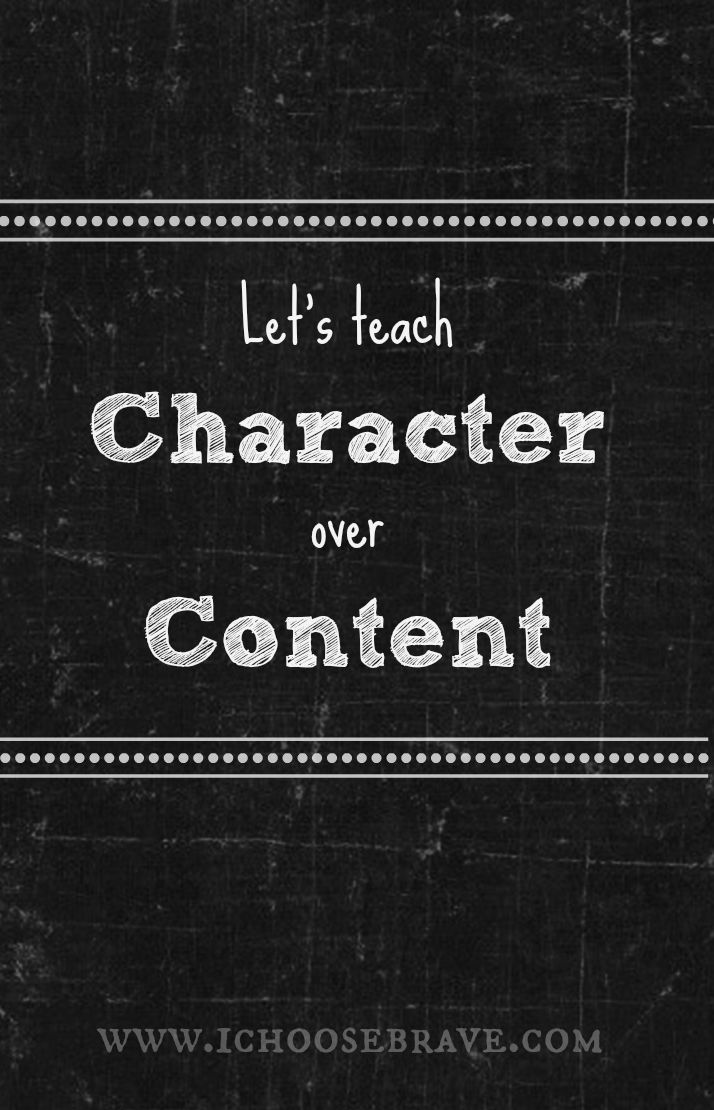 Character is what really matters.