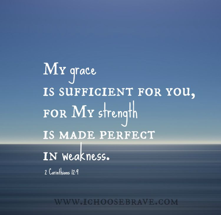 His power is made perfect in weakness. So much hope in this truth!