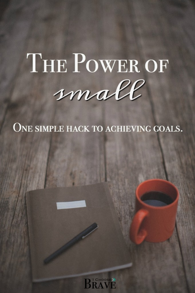 We like to dream big, but what if the real magic happens in the small? Small goals get the work done. We can achieve goals, when they are small. And this is why.