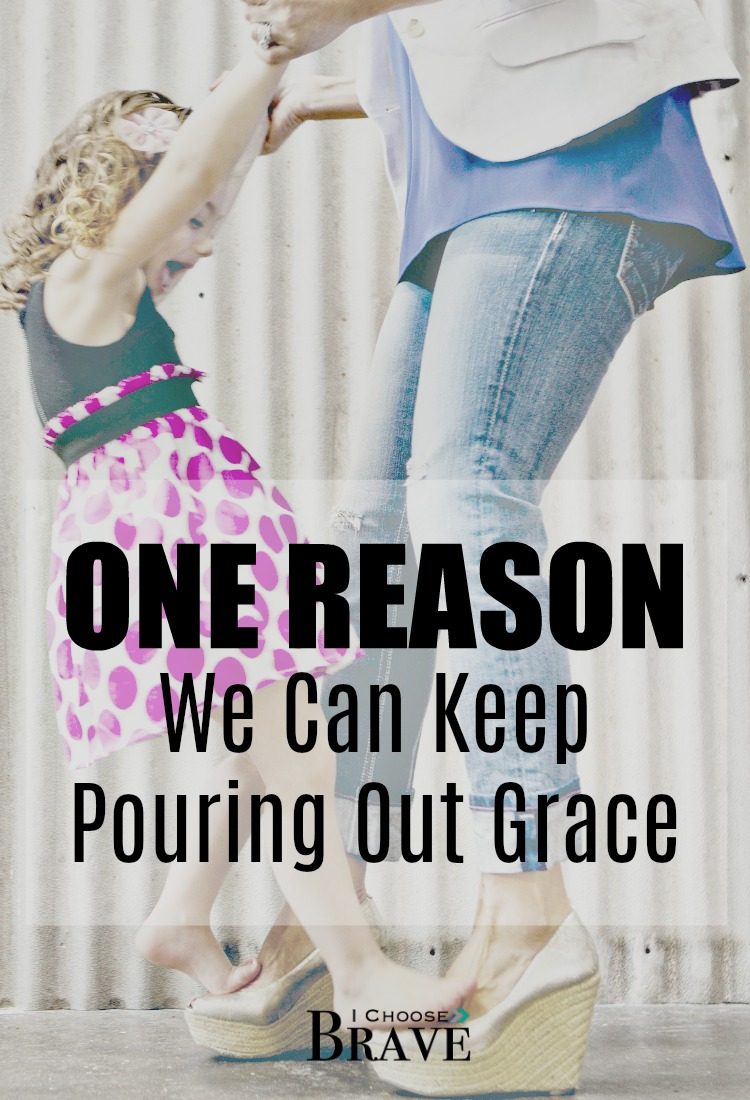 How can we become the conduit of grace when our children are being difficult? The one lesson I'm learning.