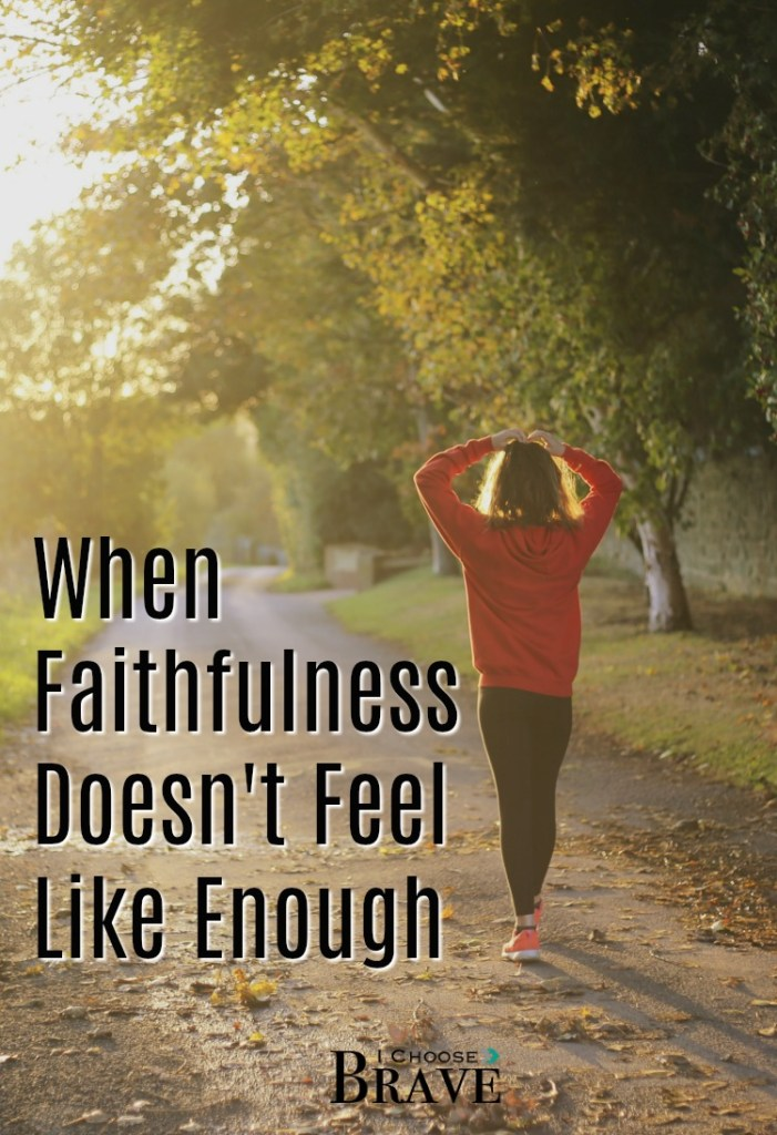 Faithfulness is a great goal, right? But what are we to do when we are faithful...and it still doesn't feel like enough? #parenting #faithful