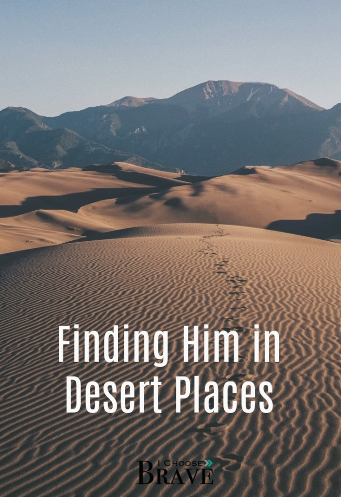 How do we see God in barren places, when it feels like he has forsaken us? In those very moments He is nearer than we even know...