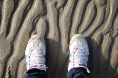 Tiger Asics am Strand