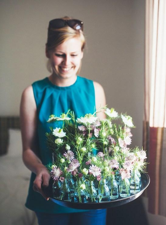 Blumenvasen Hochzeit