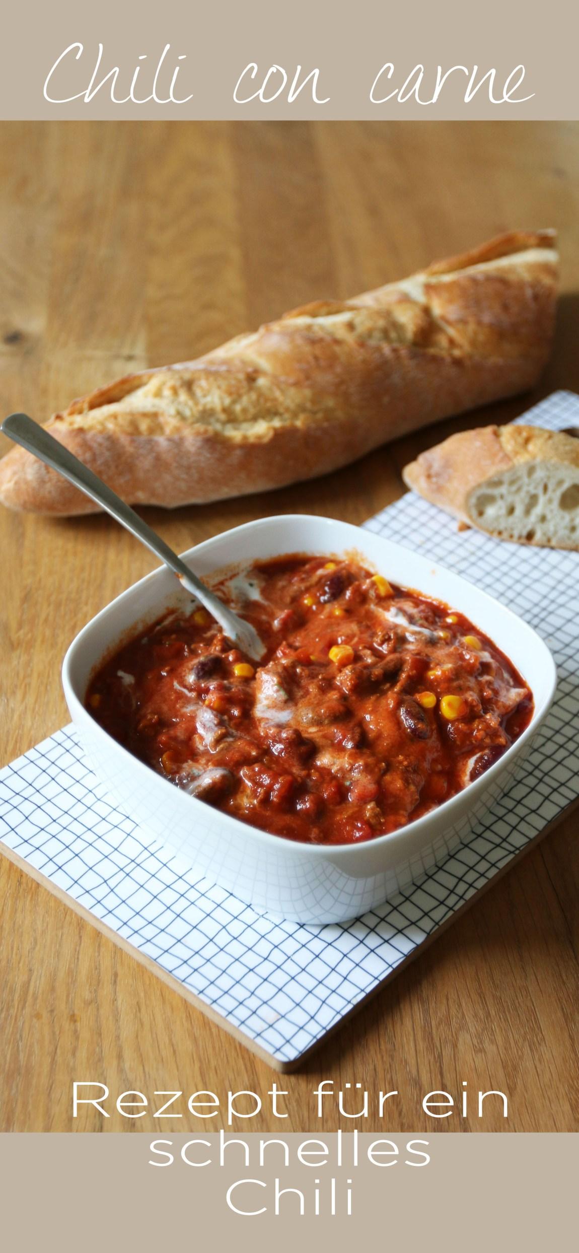 Ein einfaches und leckeres Rezept für Chili con carne gibt es jetzt auf dem Blog. Für mich ein echter Klassiker. | Ichsowirso