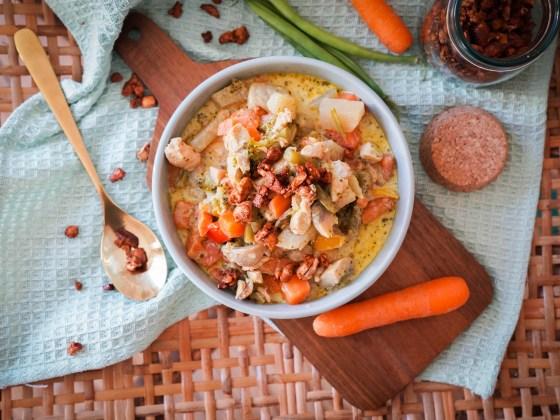 Rezept für Hähnchen Curry mit viel Gemüse und gerösteten Knusper Cashews. Low Carb Abendessen schnell gemacht und super lecker. Rezept auf dem Blod   Ichsowirso.de
