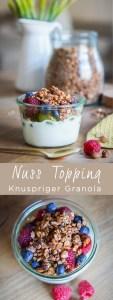 Granola,Crunch oder Topping, nennt es wie ihr wollt. Hier kommt mein Rezept für unser leckeres und schnelles Knusper Nuss Topping. Rezept auf dem Blog | Ichsowirso.de