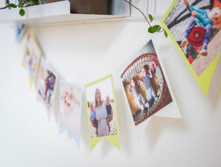 Als Deko für den Kindergeburtstag ist das eine individuelle und shcnelle Idee. Als Bastelidee aheb ich die Dekoration mit Polaroid Bildern gemacht. | Ichsowirso.de